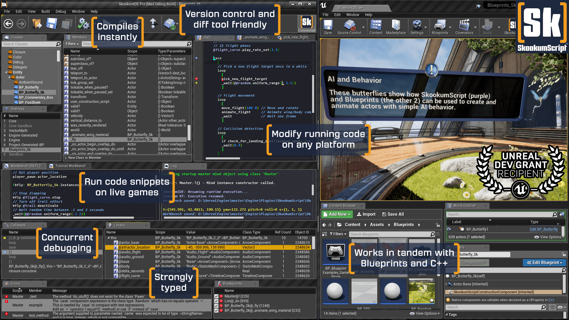 SkookumScript IDE Screenshots